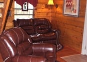 Cozy soft leather furniture